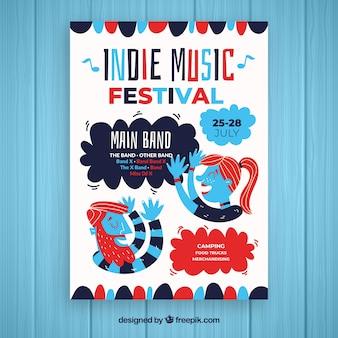 Modèle d'affiche pour une fête de musique indépendante