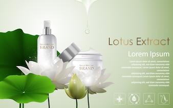 Modèle d'annonces cosmétiques Lotus