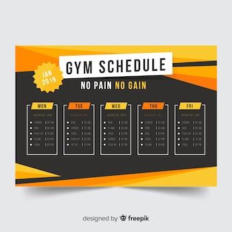 Modèle d'horaire de gym