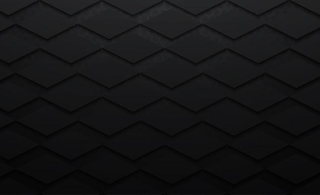 Modèle daimond abstrait 3d fond noir