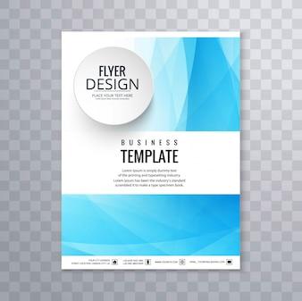Modèle de brochure d'affaires bleu abstrait
