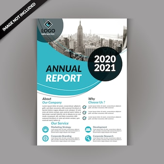 Modèle de brochure d'entreprise avec la couleur bleue