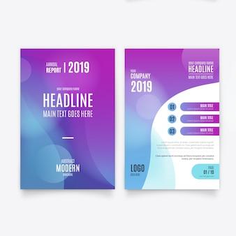 Modèle de Brochure de résumé