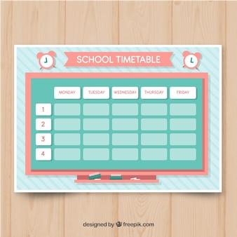 Modèle de calendrier scolaire dans le style plat
