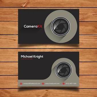Modèle de carte d'entreprise pour la photographie