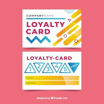 Modèle de carte de fidélité avec un design abstrait