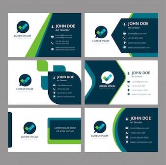 Modèle de carte de visite et d'identité de marque
