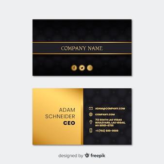 Modèle de carte de visite professionnelle dans un design élégant