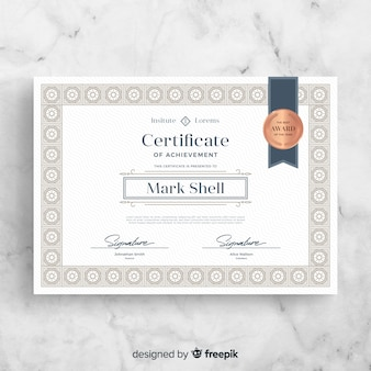 Modèle de certificat rétro élégant