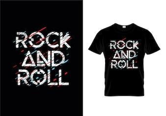 Modèle de conception de t-shirt Rock And Roll