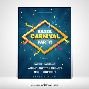 Modèle de couverture pour le carnaval brésilien