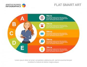 Modèle de diapositive de processus métier. Graphique. Concept créatif pour infographie, rapport.