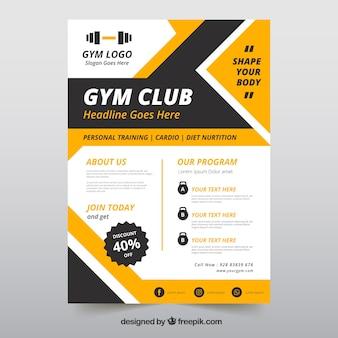 Modèle de Flyer avec des informations de gym
