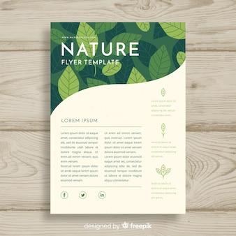 Modèle de flyer belle nature avec un style moderne