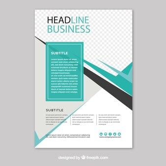 Modèle de flyer d'affaires avec un design abstrait