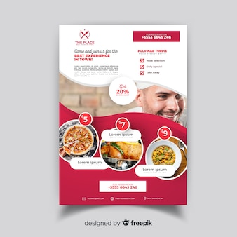 Modèle de flyer restaurant élégant