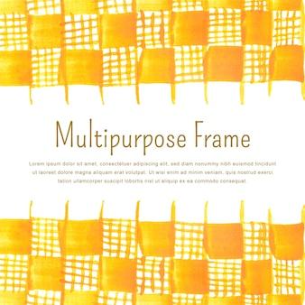 Modèle de fond de cadre multi-usages dessiné main avec espace de texte