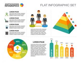 Modèle de graphique de pourcentage de projet d'entreprise pour présentation