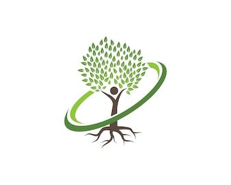 Modèle de logo arbre icône