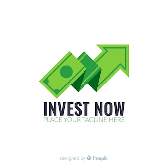 Modèle de logo de concept d'argent