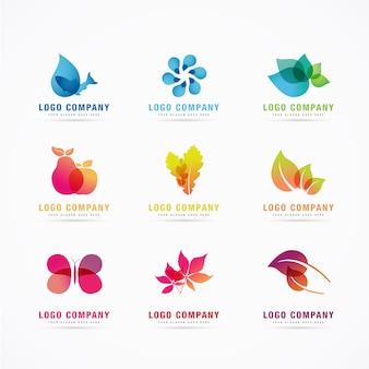 Modèle de logo pour l'été