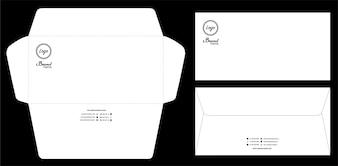 Modèle de maquette d'enveloppe de papier