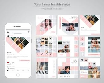 Modèle de message de vente de mode sur les médias sociaux