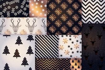 Modèle de Noël, fond de tuile de joyeuses fêtes de l'hiver