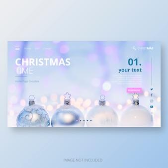 Modèle de page d'accueil pour le temps de Noël