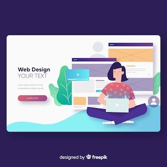 Modèle de page de destination de conception Web