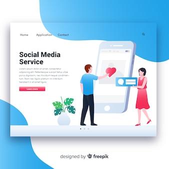 Modèle de page de destination des médias sociaux