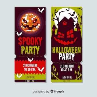 Modèle de ticket d'Halloween
