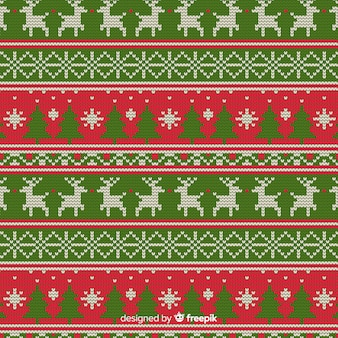 Modèle de tricot de Noël
