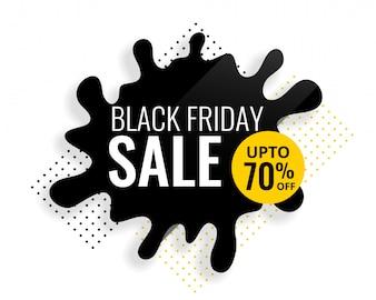 Modèle de vente splash couleur vendredi noir