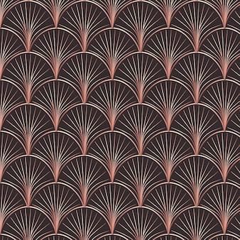 Modèle de décoration art abstrait or rose