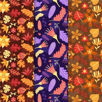 Modèle de décoration automne design plat