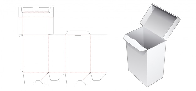 Modèle de découpe automatique de boîte-cadeau de verrouillage automatique