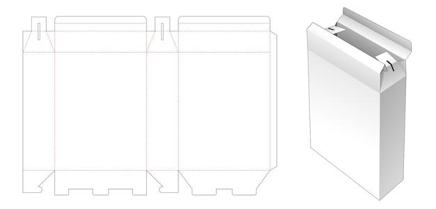 Modèle de découpe de boîte de conteneur en papier