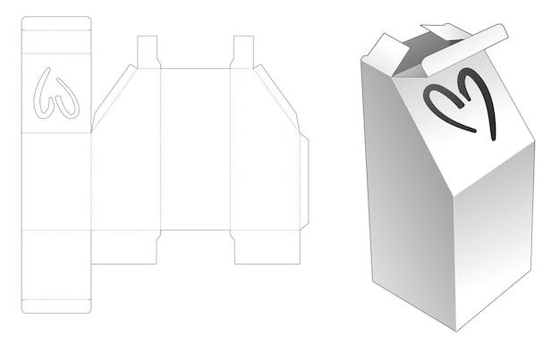 Modèle de découpe de boîte d'emballage
