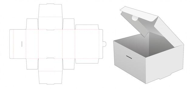 Modèle de découpe de boîte à gâteaux pliable en carton