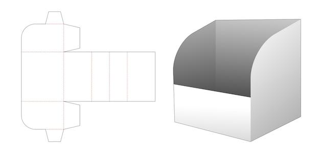 Modèle de découpe de boîte de papeterie en carton