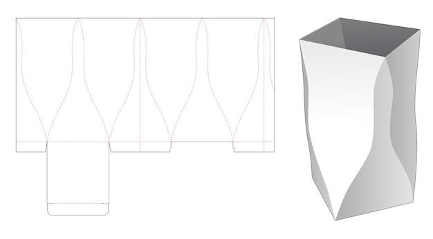 Modèle de découpe de boîte de papeterie incurvée