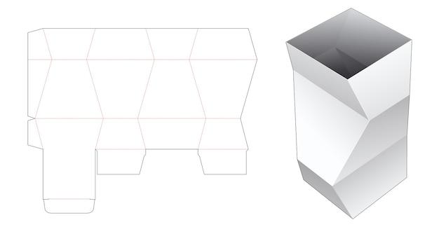 Modèle de découpe de boîte de papeterie polygonale