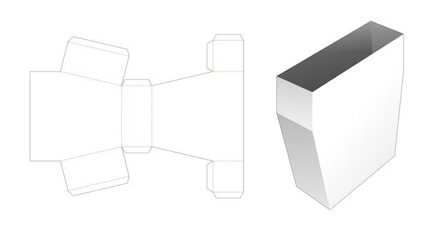 Modèle de découpe de boîte de papeterie