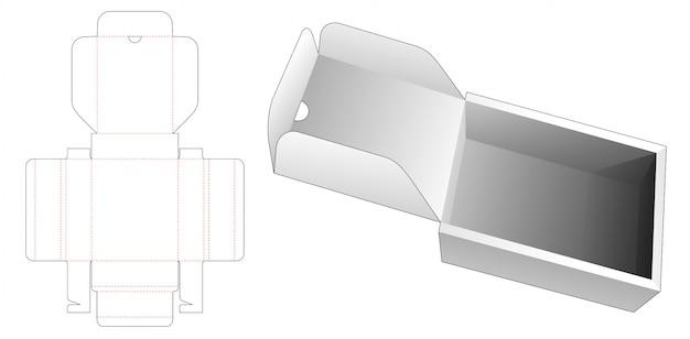 Modèle de découpe de boîte rectangulaire flip