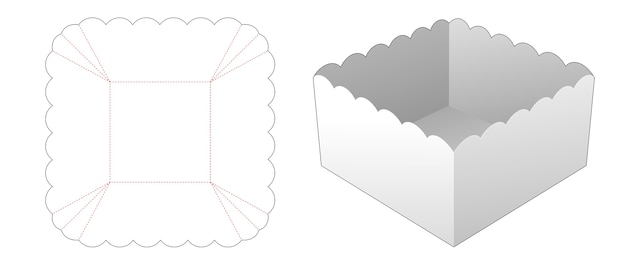 Modèle de découpe de bol carré alimentaire