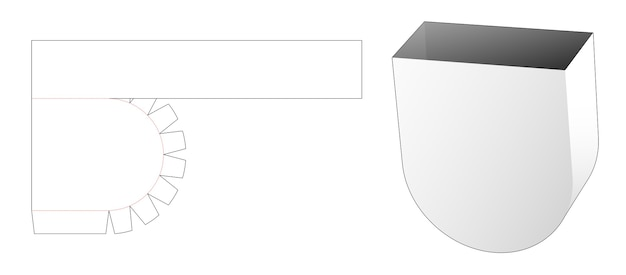 Modèle de découpe de bol de récipient à collation
