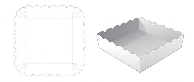 Modèle de découpe de conteneur carré alimentaire