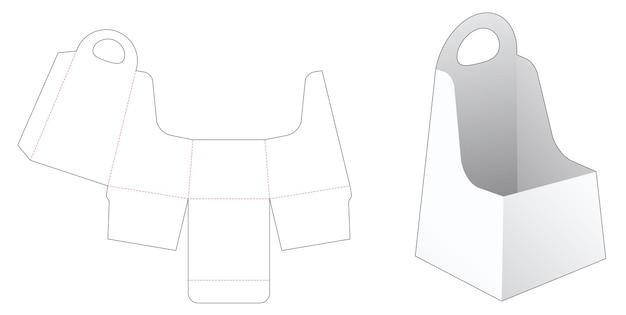 Modèle de découpe de conteneur en forme d'obélisque de poignée