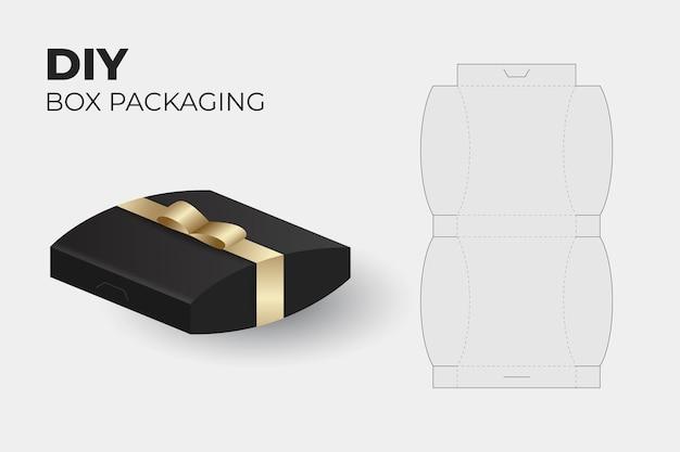 Modèle de découpe d'emballage de boîte réaliste